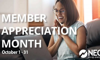 October 2020 is Member Appreciation Month   Electricity Company in Texas   NEC Co-op Energy