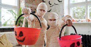 Kids in Mummy Costume